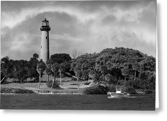Florida House Greeting Cards - Jupiter Lighthouse Greeting Card by Laura  Fasulo
