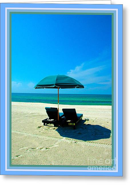 Footprints In The Sand Greeting Cards - Just YOU and ME and The Beach Greeting Card by Susanne Van Hulst