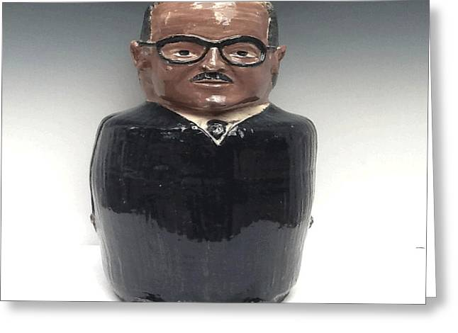 Black Ceramics Greeting Cards - Justice Thurgood Marshall Greeting Card by David Mack