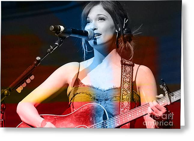 Award Mixed Media Greeting Cards - Kacey Musgraves  Greeting Card by Marvin Blaine
