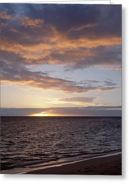 Amazing Sunset Greeting Cards - Kailua Sunset Greeting Card by Brandon Tabiolo