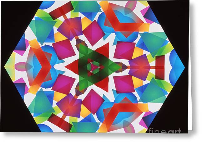 Ultraviolet Light Greeting Cards - Kaleidoscope Greeting Card by Alfred Pasieka