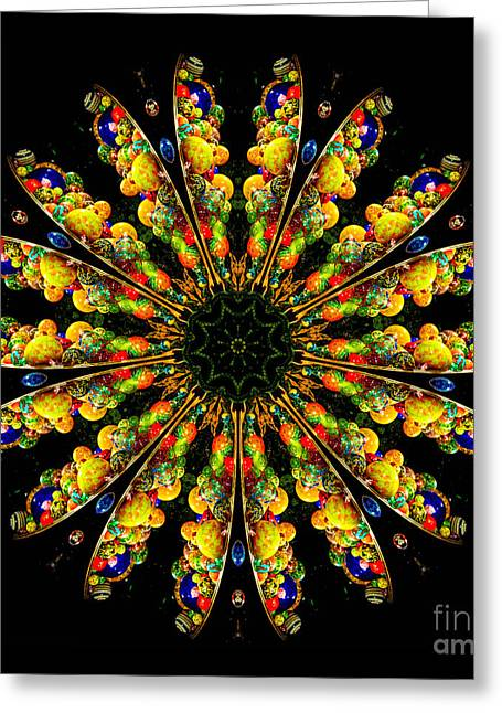 Neon Greeting Cards - Kaleidoscope of Blown Glass Greeting Card by Amy Cicconi