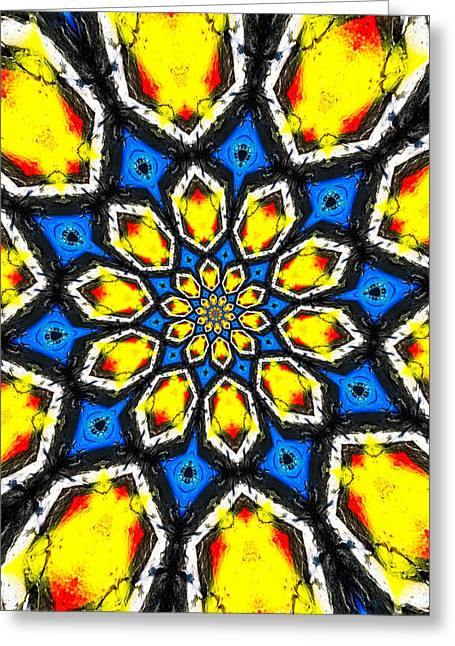 Groovy Greeting Cards - Kaleidoscope of Primary Colors Greeting Card by Amy Cicconi
