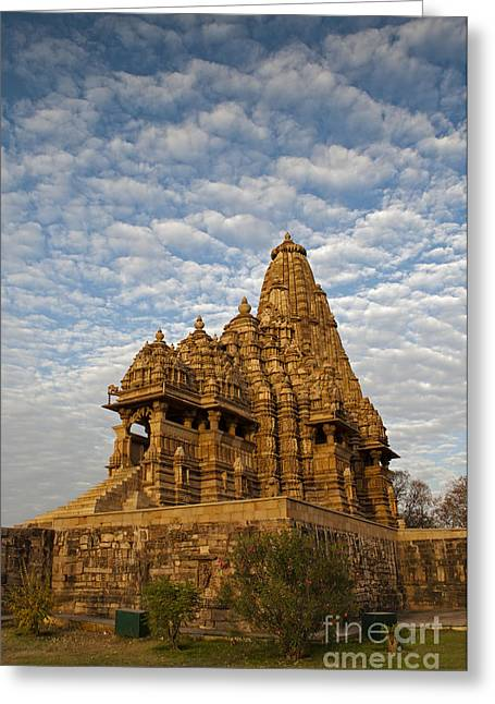 Mahadeva Greeting Cards - Kandariya Mahadeva Temple Khajuraho India Greeting Card by Rudra Narayan  Mitra