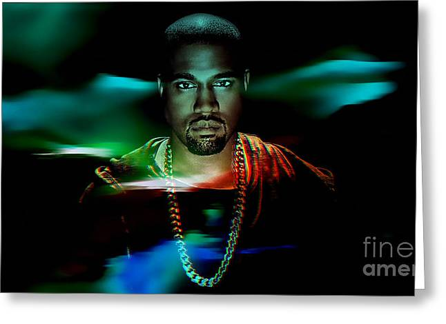 Rap Greeting Cards - Kanye Collection Greeting Card by Marvin Blaine