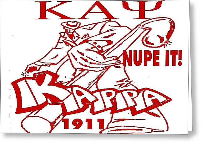 Tony Curtis Greeting Cards - Kappa Greeting Card by Tony Curtis
