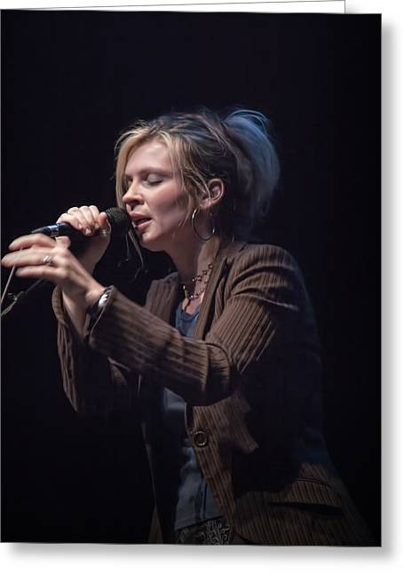 """folk Singers"" Greeting Cards - Karin Bergquist Lead Singer of Over The Rhine Greeting Card by Randall Nyhof"