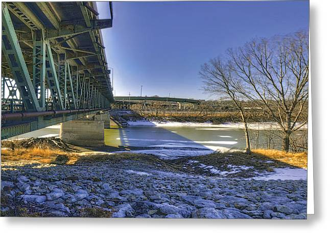 Kansas City Greeting Cards - Kaw River in Winter Greeting Card by Don Wolf
