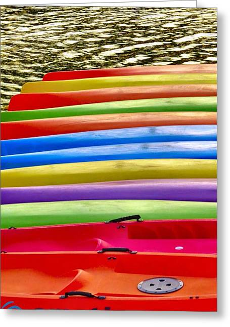 Phillies Framed Prints Greeting Cards - Kayak Greeting Card by Michelle Milano