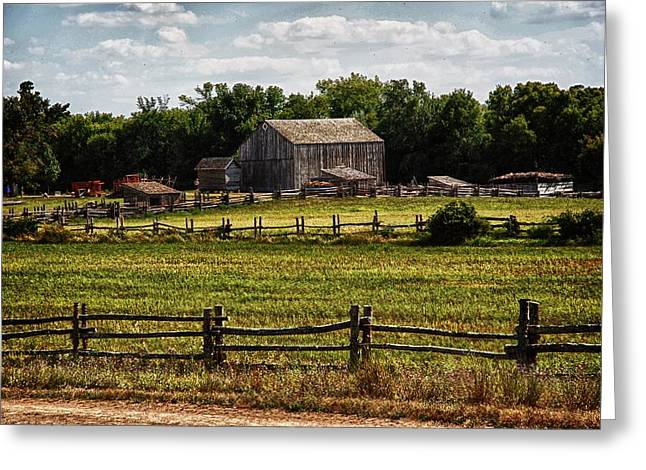 Shack Mixed Media Greeting Cards - Kelley Farm Greeting Card by Todd and candice Dailey