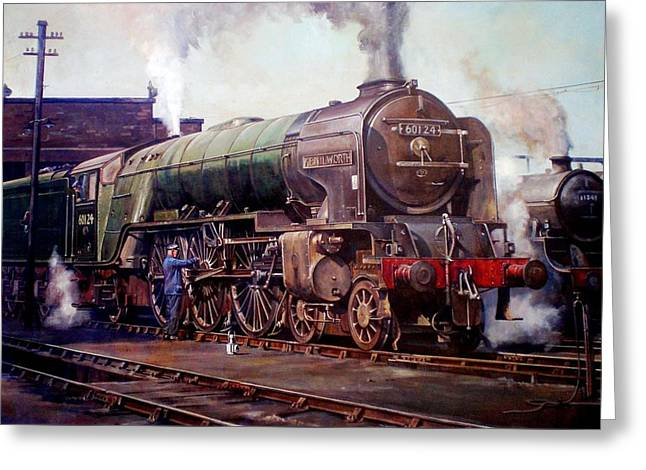 First Class Greeting Cards - Kenilworth on shed. Greeting Card by Mike  Jeffries