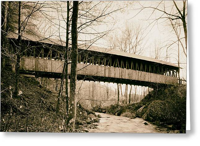 Kenyon Greeting Cards - Kenyon Covered Bridge - Sullivan County New Hampshire Greeting Card by Mountain Dreams