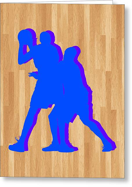 Kevin Durant Kobe Bryant Greeting Card by Joe Hamilton