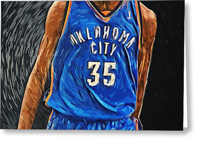 Kevin Durant Greeting Card by Taylan Soyturk