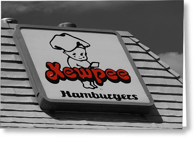 Cheeseburger Greeting Cards - Kewpee Restaurant Greeting Card by Dan Sproul