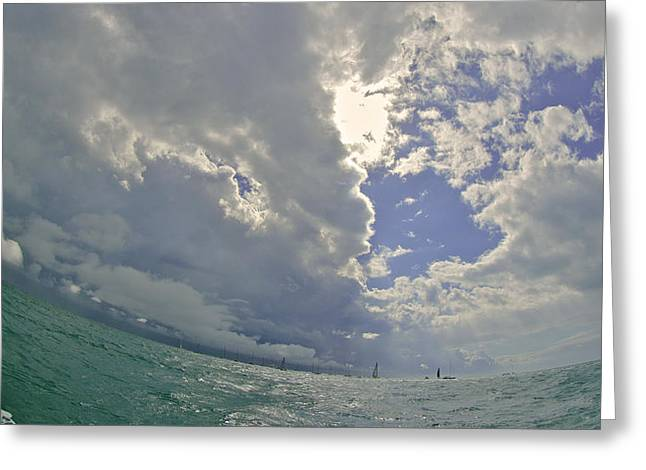 Midday.light Greeting Cards - Key West Horizon Greeting Card by Steven Lapkin