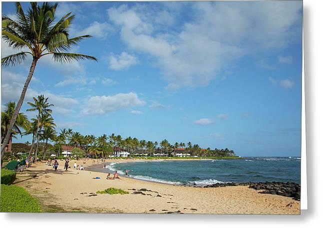 Kiahuna Beach, Poipu, Kauai, Hawaii Greeting Card by Douglas Peebles