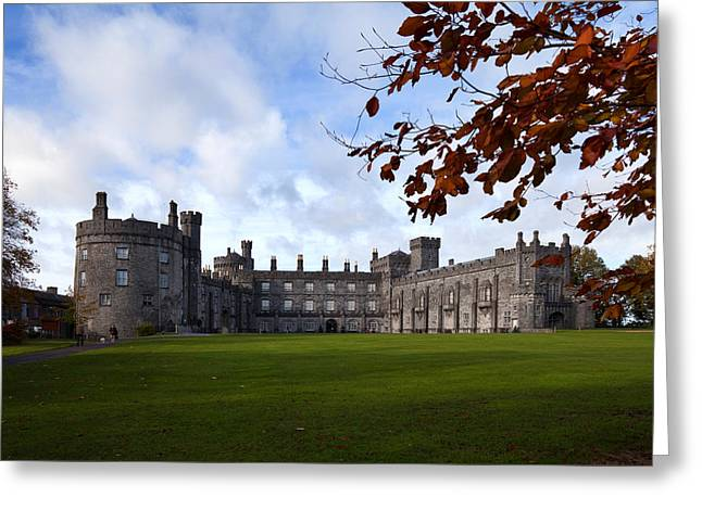 Architectural Photography Greeting Cards - Kilkenny Castle - Rebuilt In The 19th Greeting Card by Panoramic Images