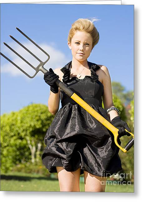 Killing Weeds With Killer Style Greeting Card by Jorgo Photography - Wall Art Gallery