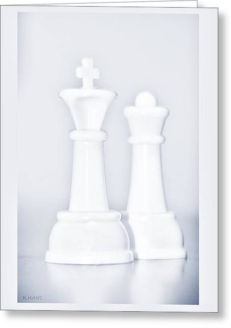 Game Piece Digital Art Greeting Cards - King And Queen  Greeting Card by Rob Hans