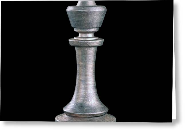 King Chess Piece Greeting Card by Ktsdesign
