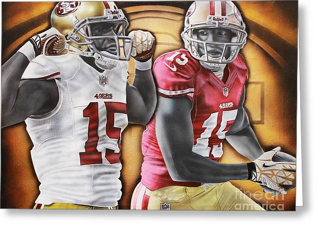 49ers Paintings Greeting Cards - King Crab Greeting Card by Anthony Young