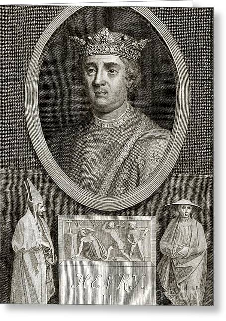 Magistrates Greeting Cards - King Henry Ii Of England Greeting Card by Middle Temple Library