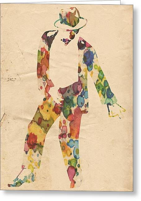 Mj Greeting Cards - King of Pop In Concert no 6 Greeting Card by Florian Rodarte