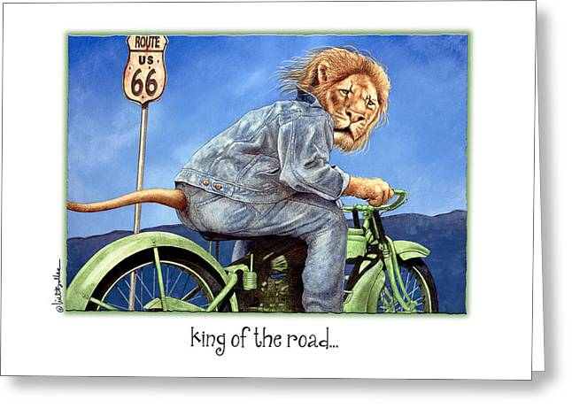 Road Trip Paintings Greeting Cards - King Of The Road... Greeting Card by Will Bullas