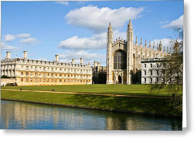 Attraction Greeting Cards - Kings College Cambridge Greeting Card by Tom Gowanlock