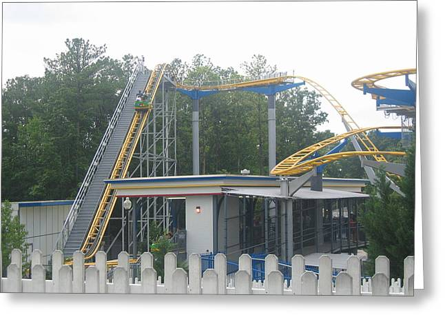 Amusements Greeting Cards - Kings Dominion - Ricochet - 12121 Greeting Card by DC Photographer
