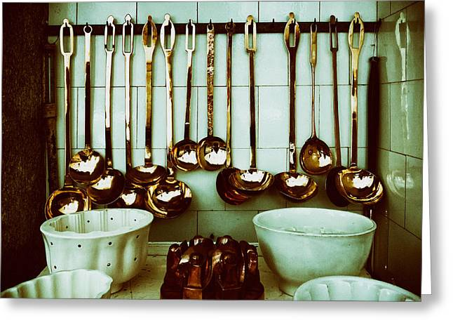 Analog Greeting Cards - Kitchen Ladles Greeting Card by Mountain Dreams