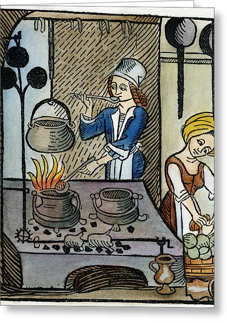 Kitchen Scene, 1507 Greeting Card by Granger