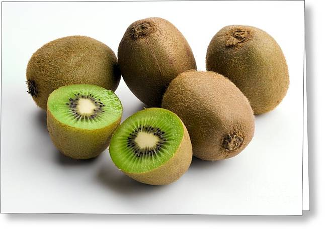 Yang Greeting Cards - Kiwi Fruit Actinidia Chinensis Greeting Card by Martyn F. Chillmaid
