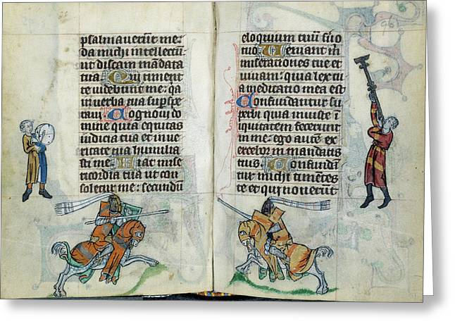 Knights Jousting Greeting Card by British Library