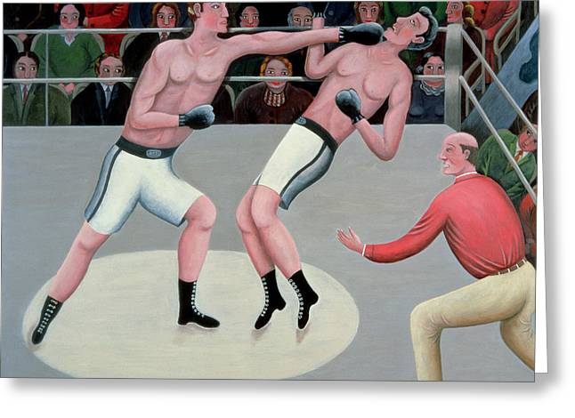 Referee Greeting Cards - Knock-out Greeting Card by Jerzy Marek