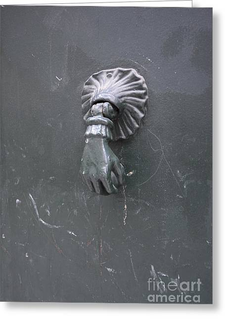 France Doors Greeting Cards - Knocker Greeting Card by Bernard Jaubert