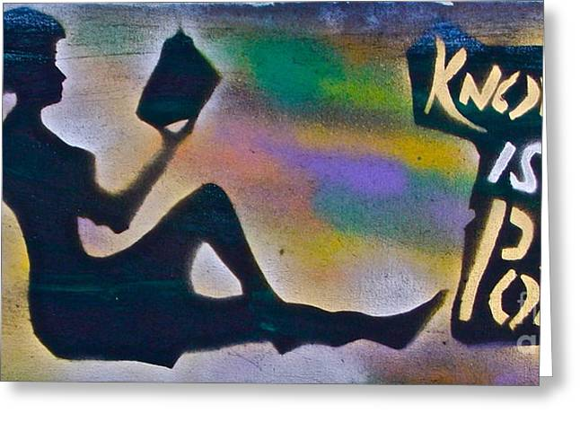 Conservative Greeting Cards - Knowledge is Power 6 Greeting Card by Tony B Conscious