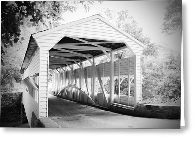 Knox Covered Bridge - Valley Forge Greeting Cards - Knox Bridge Greeting Card by Michael Porchik