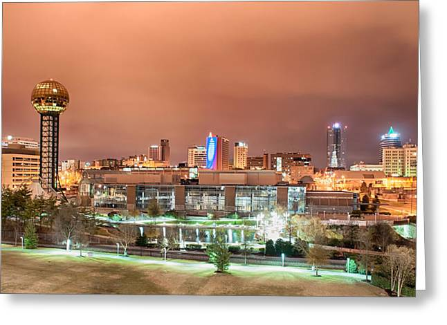 Tennessee Landmark Greeting Cards - Knoxville Tennessee at night Greeting Card by Alexandr Grichenko