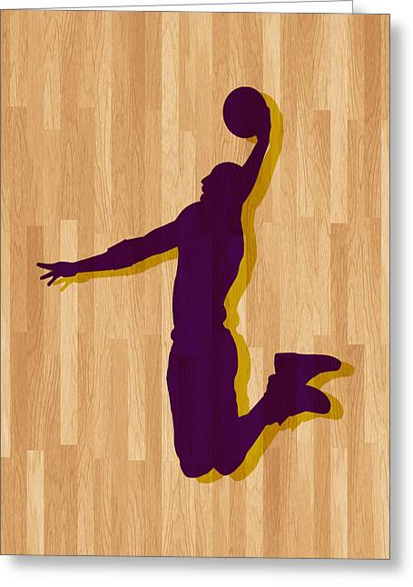 Los Angeles Lakers Greeting Cards - Kobe Bryant Los Angeles Lakers Greeting Card by Joe Hamilton