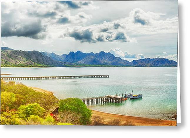 Peaceful Scene Greeting Cards - Komodo panorama Greeting Card by MotHaiBaPhoto Prints