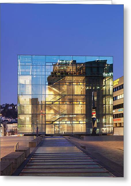 Contemporary Photography Greeting Cards - Kunstmuseum Stuttgart Museum Greeting Card by Panoramic Images