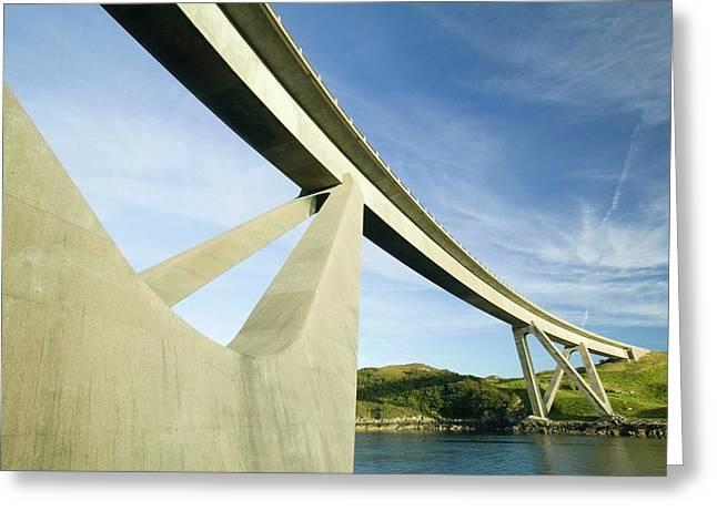 Kylesku Bridge In Assynt Greeting Card by Ashley Cooper