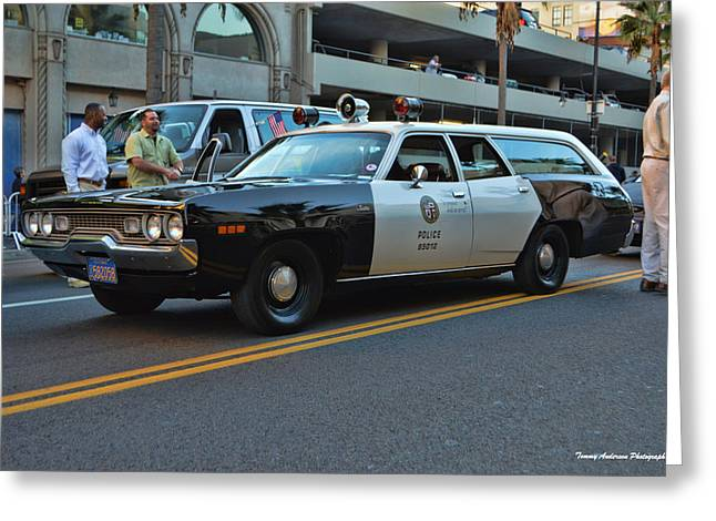 Police Cruiser Greeting Cards - 1-l-20 Greeting Card by Tommy Anderson