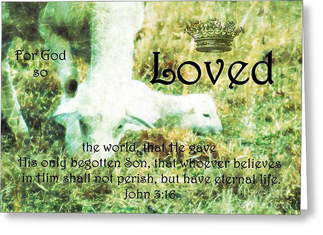 Renewing Greeting Cards - L is for Lamb Greeting Card by Anita Faye