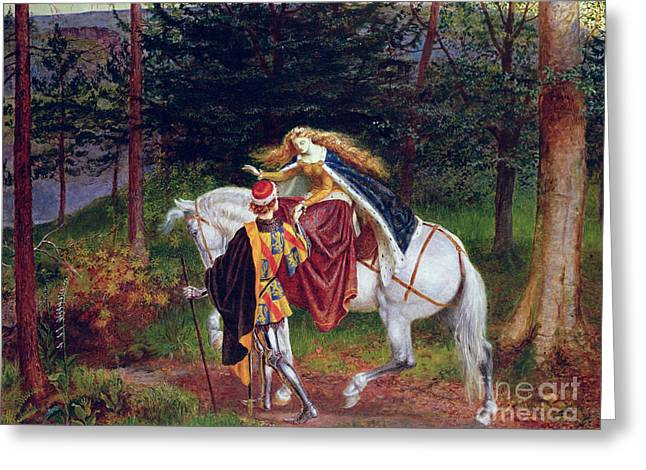 Equestrian Prints Greeting Cards - La Belle Dame Sans Merci Greeting Card by Walter Crane