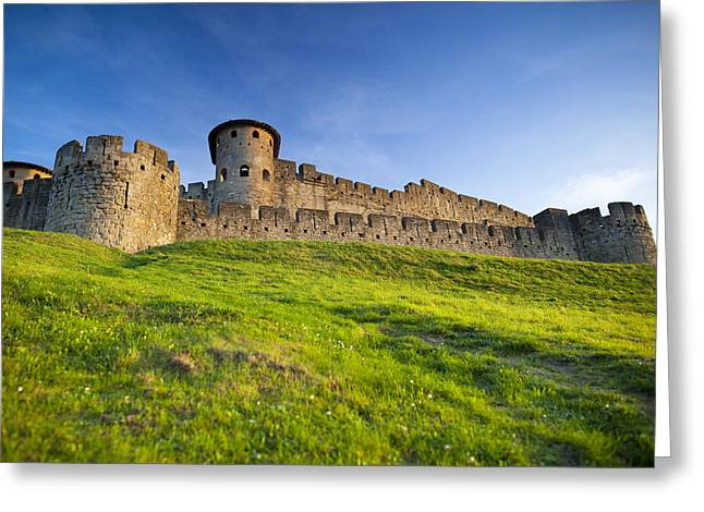 Languedoc Greeting Cards - La Cite de Carcassonne Greeting Card by Ruben Vicente