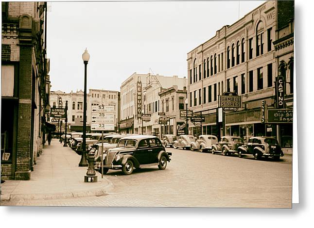 Analog Greeting Cards - La Crosse Wisconsin 1939 Greeting Card by Mountain Dreams